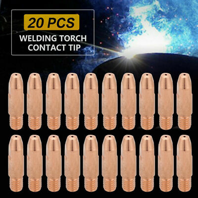 20Pcs MB 24KD MIG/MAG Welding Torch Contact TIP M6*28 Gas Nozzle 0.8/1.0/1.2mm