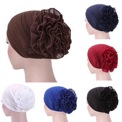 EG_ Muslim Hijab Turban Arabic Head Scarf Flower Women Chemo Cap Cotton Bandana