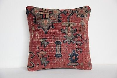 Oushak carpet cushion cover,carpet pillow,Cushion cover,16x16 Rug Pillow cover