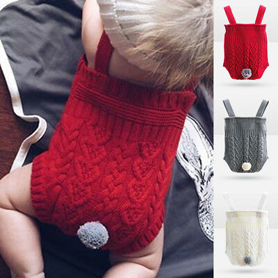 Eg_ Newborn Infant Baby Girl Boy Knitted Romper Bodysuit Jumpsuit Outfit Clothes