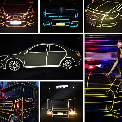EG_ 1 Roll Reflective Night Safety Warning Stripe Car Truck Tape Sticker Decal N