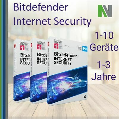 Bitdefender Internet Security 2019 1 3 5 10 PC 1 2 3 Jahre VPN