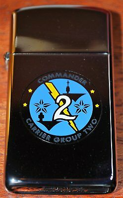 Zippo Commander Carrier Group Two - New Slim In Box 1985