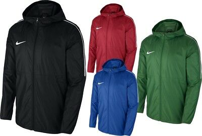 4a173be929 Nike Mens Dry Park18 Rain Coat Jacket Hoodie Waterproof Windproof Wind  Breaker