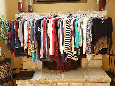HUGE Lot of 45 Womens Tops,Sweaters,Cardigans,Sweatshirts, Jackets_Size  Large L