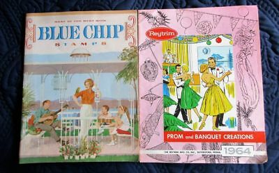 VINTAGE 1960s LOT  2 CATALOGS~BLUE CHIP STAMPS~REYTRIM PROM & BANQUET CREATIONS