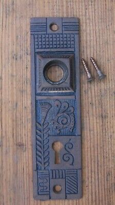 Eastlake Door back plate, Victorian 1880's Fancy back plate f/ Door knob& lock