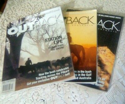 3 x OUTBACK Magazines