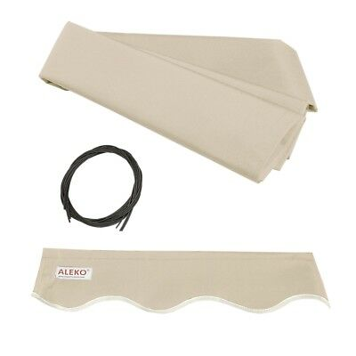 ALEKO Fabric Replacement For 13x10 Ft Retractable Awning Ivory Color