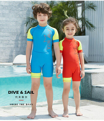 Kids One-piece Swimsuit Diving Suits Girls Boys Water Sports Bathing Swimwear
