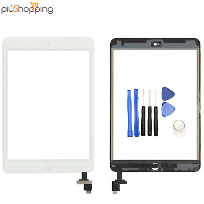 Touch Screen Per Apple Ipad Mini 3 A1599 A1600 Wifi 3G Vetro Bianco