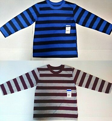 Baby Toddler Boys Striped T-Shirt Purple, Blue Long Sleeve 12 Month 3T