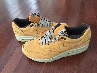 low priced 28387 53c8e 2015 NIKE AIR MAX 1 LTR PREMIUM Wheat bronze baroque brown sz 9.5 USED