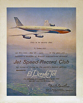 "Braniff Airways Boeing 707-227 ((6""x11"")) Print"