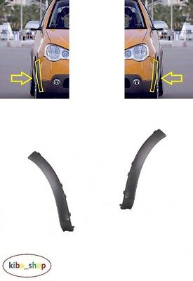 Vw Polo Cross 2005 - 2009 New Front Wheel Arch Trim Moulding Left + Right