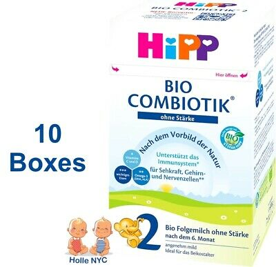 HiPP Stage 2 No Starch Bio Combiotic Formula 10 Boxes 600g Free Shipping