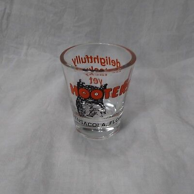 Hooters Of Pensacola Florida Shot Glass Delightfully Tacky