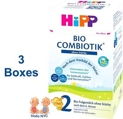 HiPP BIO Combiotic Stage 2 No Starch Organic Formula  FREE SHIPPING 3 Boxes