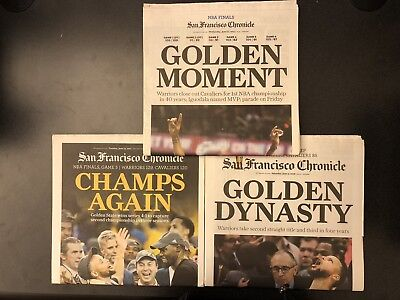 953915751e3 Golden State Warriors NBA Champions SF San Francisco Chronicle Newspaper  Curry