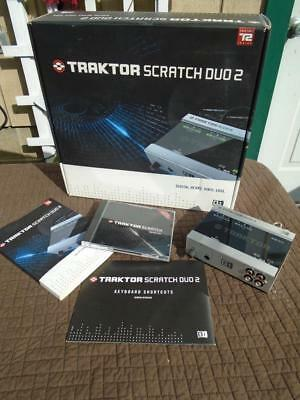 NATIVE INSTRUMENTS TRAKTOR Scratch Duo 2 in Box with Set Up Guide & Disc's