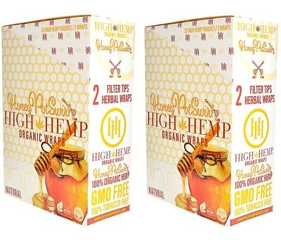 High Hemp Honey Pot Swirl Organic Wraps 2 Box 50 Pouch (100 Wraps) NON GMO