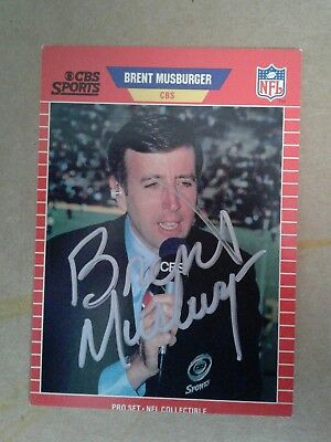 Brent Musburger autographed trading card with COA
