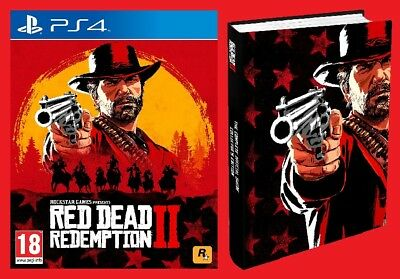 Red Dead Redemption 2 Pack PS4 Game & Complete Official Guide Collectors Edition