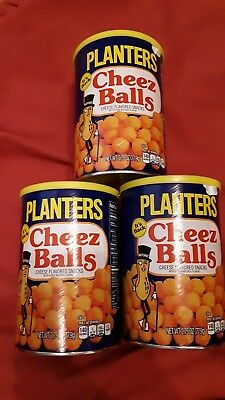 Planters Cheez Balls LOT OF 3 2.75 oz Cans 2018 IN HAND READY TO SHIP New Box