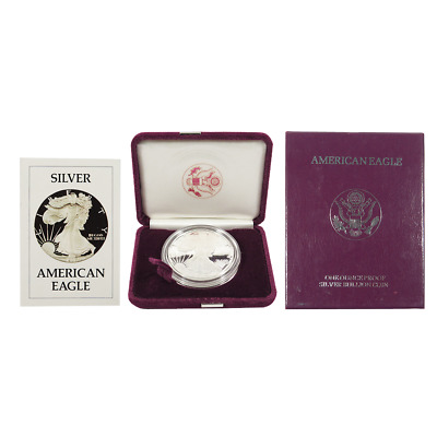 1986-S Proof $1 American Silver Eagle Box OGP & COA