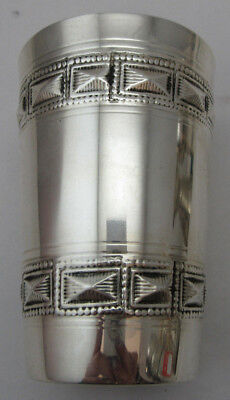 Sterling Silver 925 Kiddish Cup With Square Details 66 GRAMS VIEW!