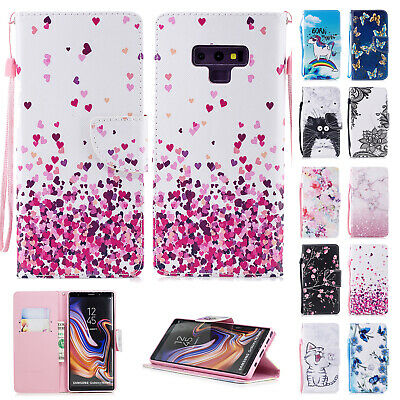 Art Painted Flip Case Cover Fr Samsung S7 S8/S9+ Note8/9 Shockproof Wallet Stand