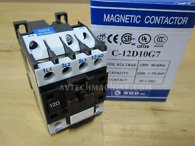 normally open NHD C-25D10E7 magnetic contactor for 10HP motor 120V coil