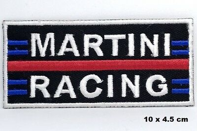 Martini Racing Logo Biker Jacket Iron-on Embroidered Patch Hat / Shorts Badge