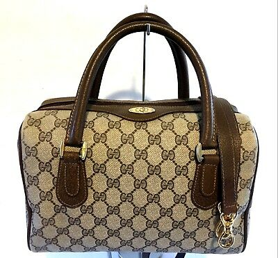 8d279504832103 Authentic Vintage GUCCI Boston Doctor Shoulder Bag Satchel Purse Handbag 2  Way