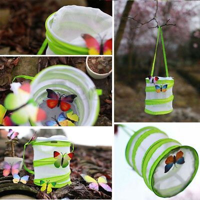 Eg_ Fm- Novelty Butterfly Praying Mantis Insect Pop-Up Cage Housing Stick Cylind