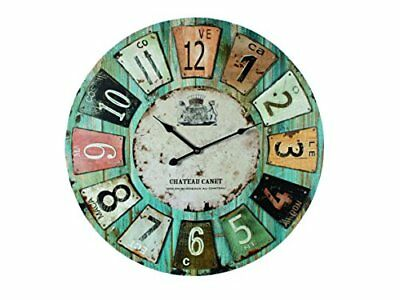 Wooden Wall Clock Antique Style  chateau  60cm Diameter 24 Inches By Out Of The