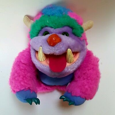 Vintage My Pet Monster Wogster Pink 1986 Toy Amtoy Plush Stuffed