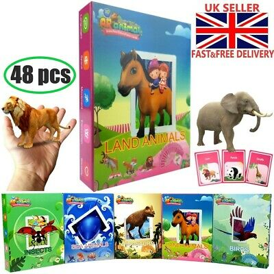 Animals Childrens Flash Cards For Kids Educational Toys Pre School Learning Gift
