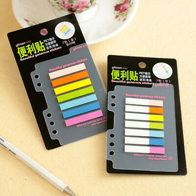 7 Colors PET Index Tabs Flags Sticky Notes For Page Marker Sticker Stationery
