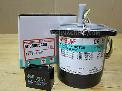 Sesame Induction Motor With Thermoswitch 4IK25A-AP 1 Phase 110V