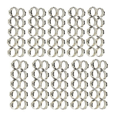 "100pcs 3/4"" Inch PEX Stainless Steel Clamp Cinch Rings Crimp Pinch Fitting"