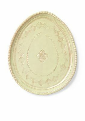 Vietri Bellezza Spring Celadon Oval Salad Plate Handmade Made in Italy NEW