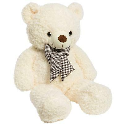 32 Inch Plush Teddy Bear Toy Christmas Gift Stuffed Animals Cuddly Bear Beige