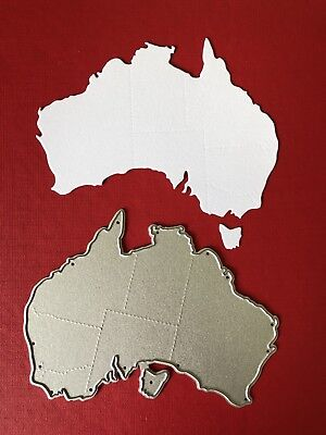 NEW• AUSTRALIAN STATES Australia TRAVEL MAP DIE For Cuttlebug Or Sizzix