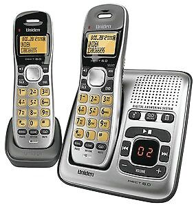 New  Generic Uniden 2 Handset Cordless Telephone with Answering Machine BYT9036