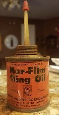 Vintage & Rare Complimentary Sample of Mor-Film Cling Oil Can Handy Oiler