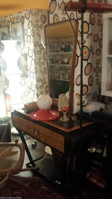 Entrance Console with Mirror Pierluigi Colli Years 40 - Vintage Modern Antiques