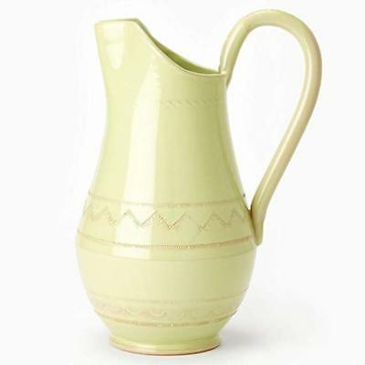 Vietri Bellezza Celadon Medium Pitcher Handmade Made in Italy NEW