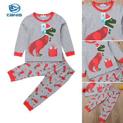 2Pcs Toddler Kids Baby Boy Girl Tops+Leggings Pants Outfits Christmas Clothes US