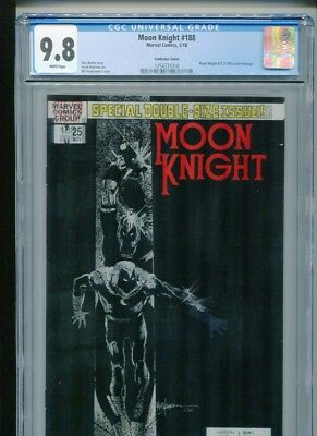 Moon Knight #188 (2018) CGC 9.8 LENTICULAR cover SIENKIEWICZ (1st Sun King)